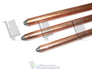 Varilla copperweld con grapa – 1.5 mts